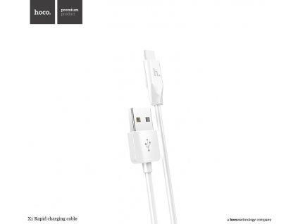Kabel USB-C  Hoco, X1 Bílý 100cm
