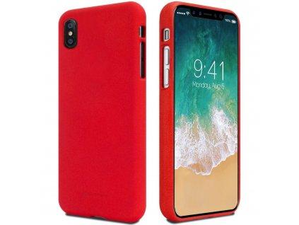 Červený obal Mercury Soft Feeling pro iPhone XS / X