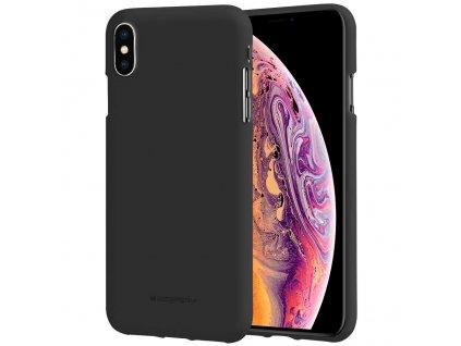 Černý obal Mercury Soft Feeling pro iPhone XS MAX