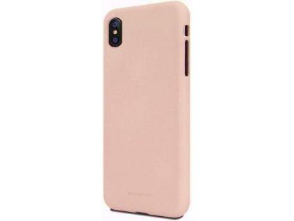 Béžový obal Mercury Soft Feeling pro iPhone XS MAX