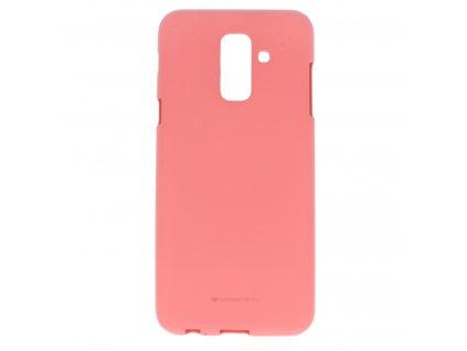 Růžový obal Mercury Soft Feeling pro Samsung Galaxy A6 Plus(2018)