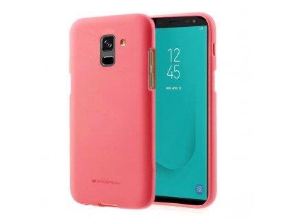 Růžový obal Mercury Soft Feeling pro Samsung Galaxy J6 (2018)
