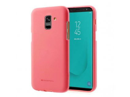 Růžový obal Mercury Soft Feeling pro Samsung Galaxy J6 Plus (2018)