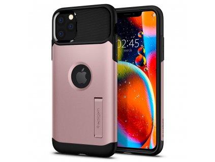 Růžový obal Spigen Slim Armor pro iPhone 11 PRO MAX