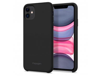 Černý obal Spigen Silicone Fit pro iPhone 11