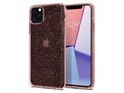 Růžový obal Spigen Liquid Crystal Glitter pro iPhone 11 PRO MAX
