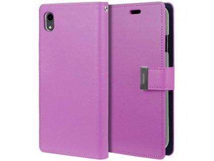 Fialové flipové pouzdro Mercury Rich Diary Wallet pro iPhone 5 / 5S / 5SE