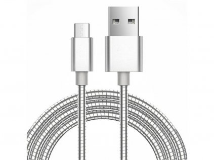 metalic alloy usb lightning nabijeci kabel na apple iphone velikost silver krytnamobil cz