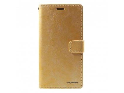 Zlaté flipové pouzdro Mercury Bluemoon Diary pro iPhone XS MAX