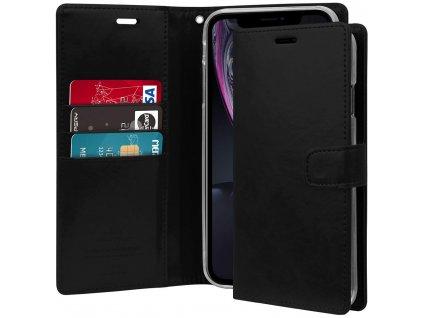 Černé flipové pouzdro Mercury Bluemoon Diary pro iPhone XR