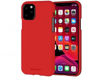 48293 3 cerveny obal mercury soft feeling pro iphone 11