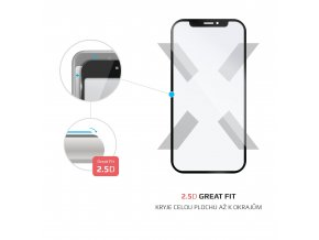 Ochranné tvrzené sklo FIXED Full-Cover pro Xiaomi Redmi 5 Global, přes celý displej, černé, 0.33 mm
