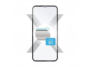 Ochranné tvrzené sklo FIXED 3D Full-Cover pro Apple iPhone XS Max, s lepením přes celý displej, černé