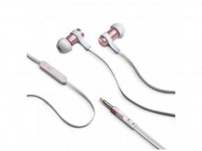 Stereo sluchátka CELLY BSIDE, 3,5mm jack, flat kabel, růžovozlatá