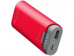 Prémiová powerbanka CellularLine FREEPOWER, 5200mAh, červená
