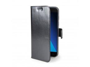 Ultra tenké pouzdro typu kniha CELLY Air pro Samsung Galaxy A5 (2017), PU kůže, černé