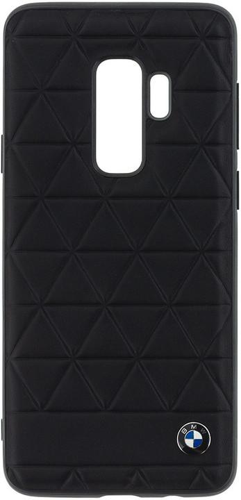 ZADNÍ KRYT PRO SAMSUNG GALAXY S9 - BMW Hexagon Leather Hard Case Black