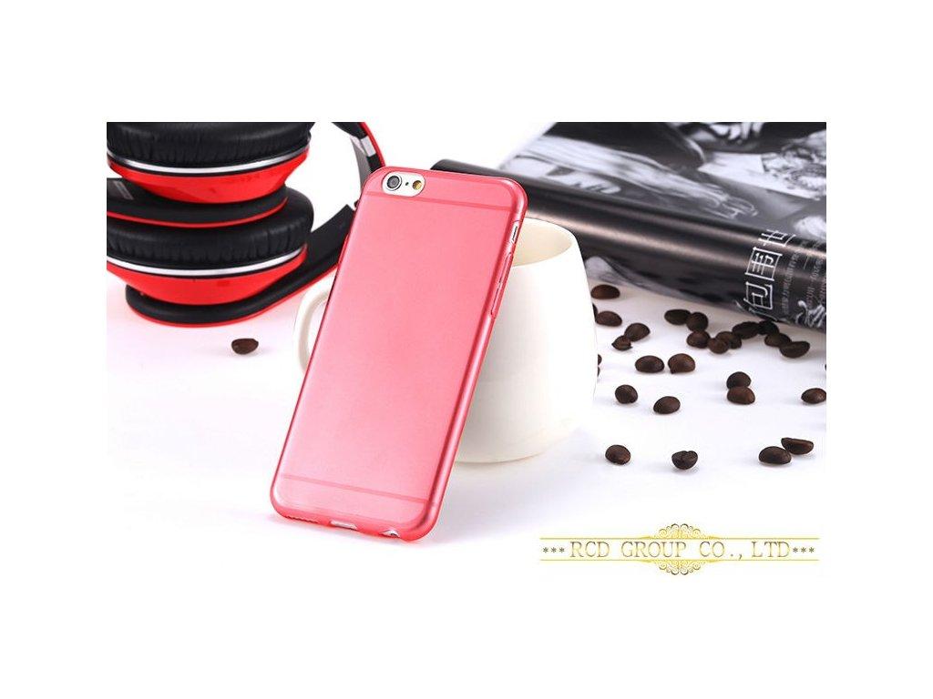 Silikonový obal pro Apple iPhone 6 - červený