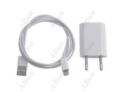 Nabíječka pro Apple iPhone 5 / 5s / 5c + 1m USB