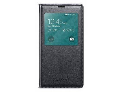 S-view flipové pouzdro pro Samsung Galaxy S5 SM-G900 - černá