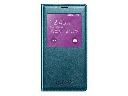 Samsung Galaxy S5 - Samsung S-view pouzdro flipové EF-CG900B pro SM-G900, zelená