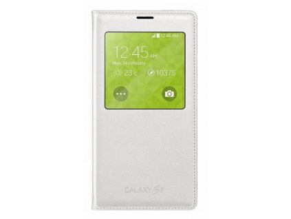 S-view flipové pouzdro pro Samsung Galaxy S5 SM-G900 - bílé