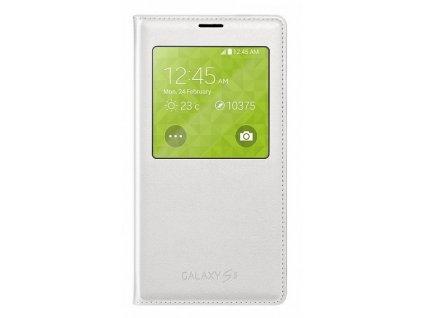 Samsung Galaxy S5 - Samsung S-view pouzdro flipové EF-CG900B pro SM-G900, bílá + Fólie zdarma