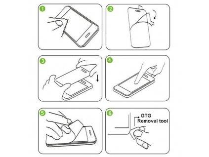Tvrzené sklo 2,5D pro iPhone 6 - zadní