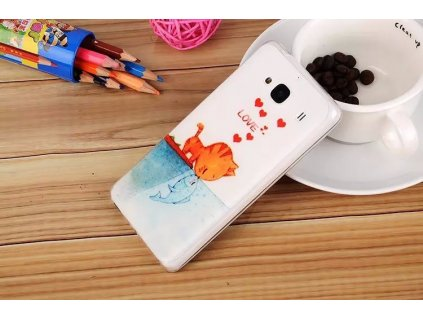 Silikonový obal LOVE CAT pro Xiaomi Redmi 2