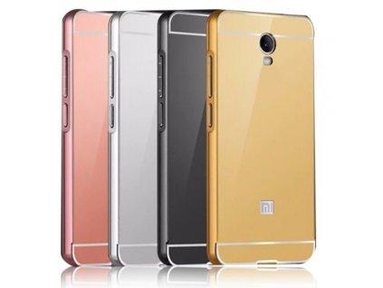 Hliníkový MIRROR kryt pouzdro pro Huawei P8 Lite - Růžový