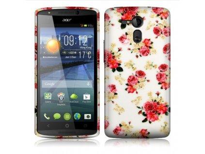 Silikonový obal pro Acer Liquid E700 FLOWERS + Stylus zdarma