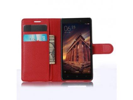 Kožené pouzdro CLASSIC pro Xiaomi Redmi 3 - Červené