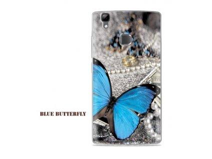 Slikonový obal BLUE BUTTERFLY pro DOOGEE X5 MAX