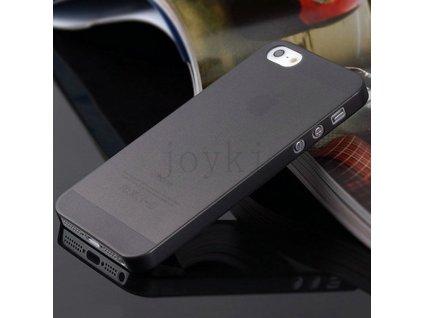 Ultratenký plastový kryt pro Apple iPhone 5 5S SE - černý