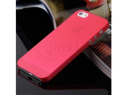 Ultratenký plastový kryt pro Apple iPhone 5 5S SE - červený