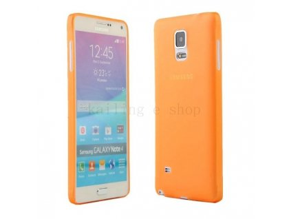 Ultratenký kryt pro Samsung Galaxy Note 4 N9100 - oranžový