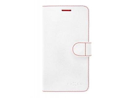 Pouzdro typu kniha FIXED FIT pro Lenovo K8 - bílé