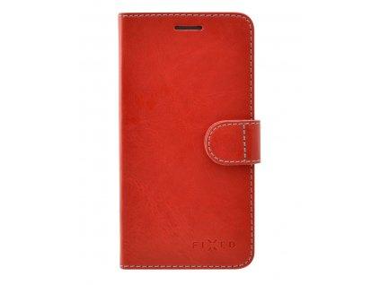 Pouzdro typu kniha FIXED FIT pro Lenovo K8 Note - červené