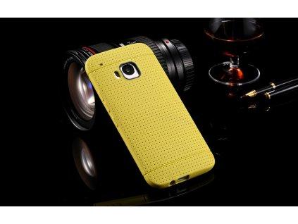 Odolný silikonový obal pro HTC ONE M9 - žlutý