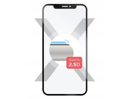 Ochranné tvrzené sklo Full-Cover FIXED pro Huawei Y9 (2018) přes celý displej - černé