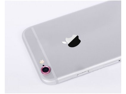 Ochranný kroužek pro kameru iPhone 6 - růžový