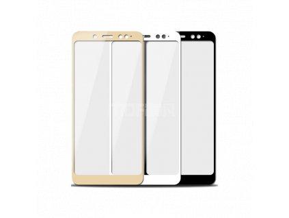 Full-Cover 3D tvrzené sklo pro Xiaomi Redmi 5 Plus - bílé