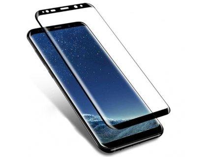 vyrn 425439Tvrzene ochranne sklo pro Samsung Galaxy S8 3D sklo fullface cerne okraje
