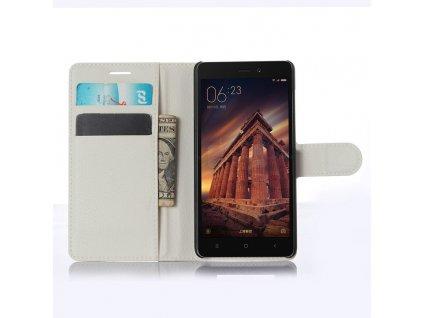 Kožené pouzdro CLASSIC pro Xiaomi Redmi 3 - Bílé