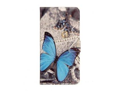 Kožené pouzdro BLUE BUTTERFLY pro Huawei P10 Lite