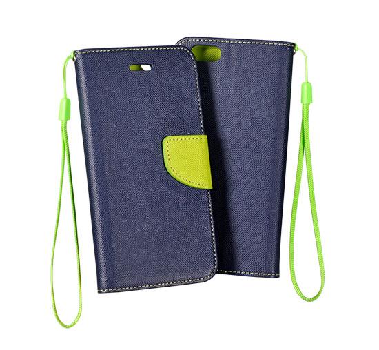 Telone Flipové pouzdro Fancy Book pro iPhone 11 Pro Max - modré/limetkové