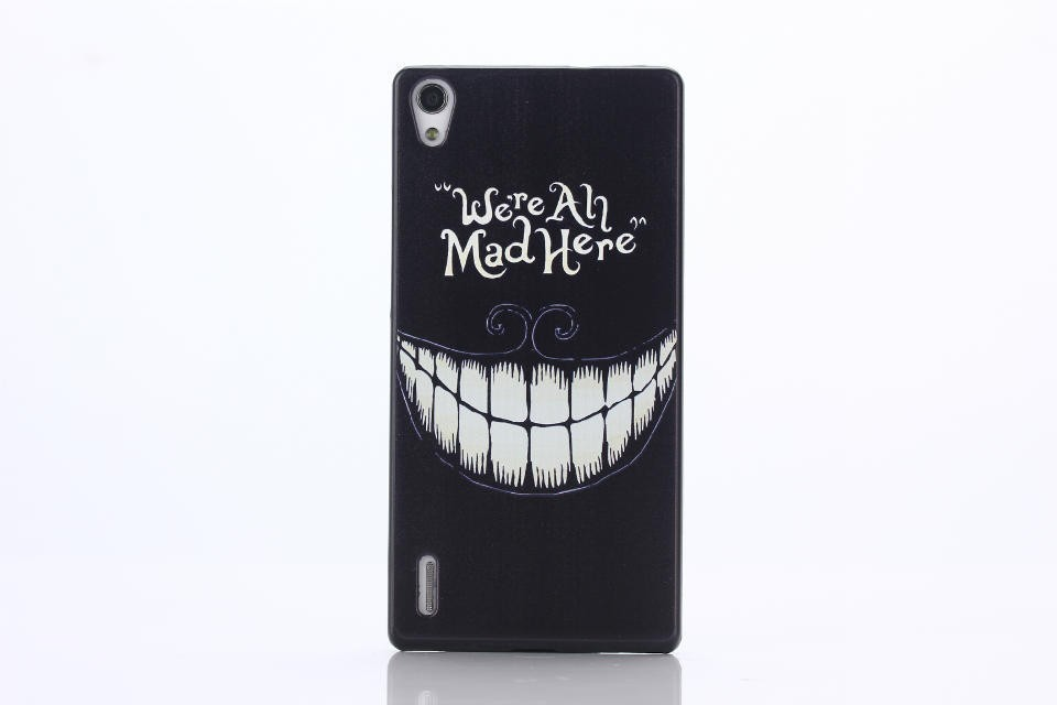 OEM Obal kryt We're All Mad Here pro Huawei Ascend P7 (pouzdro)
