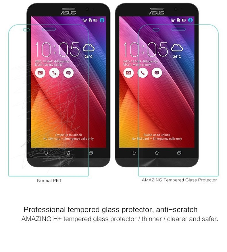 GERTONG Tvrzené sklo 2,5D pro ASUS Zenfone 2 ZE500CL
