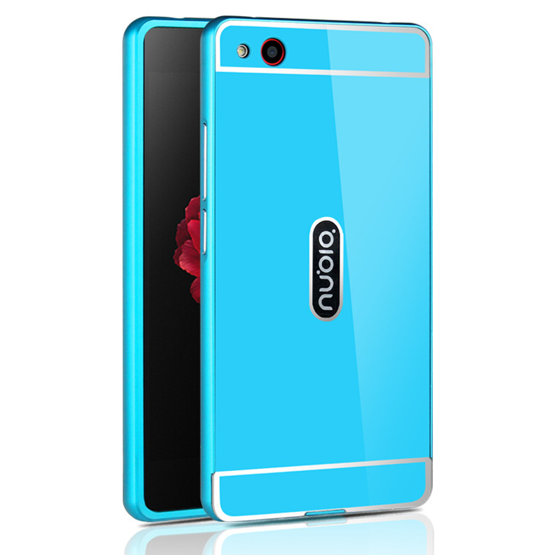 OEM Hliníkový obal kryt pouzdro pro Huawei P8 Lite - Modrý