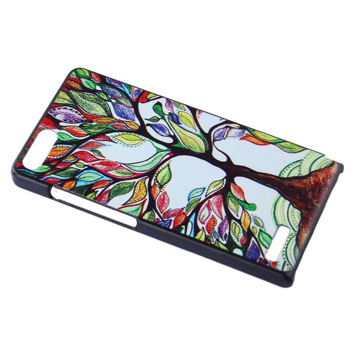 oem Obal kryt Colorful Tree pro Huawei Ascend G6 (pouzdro)